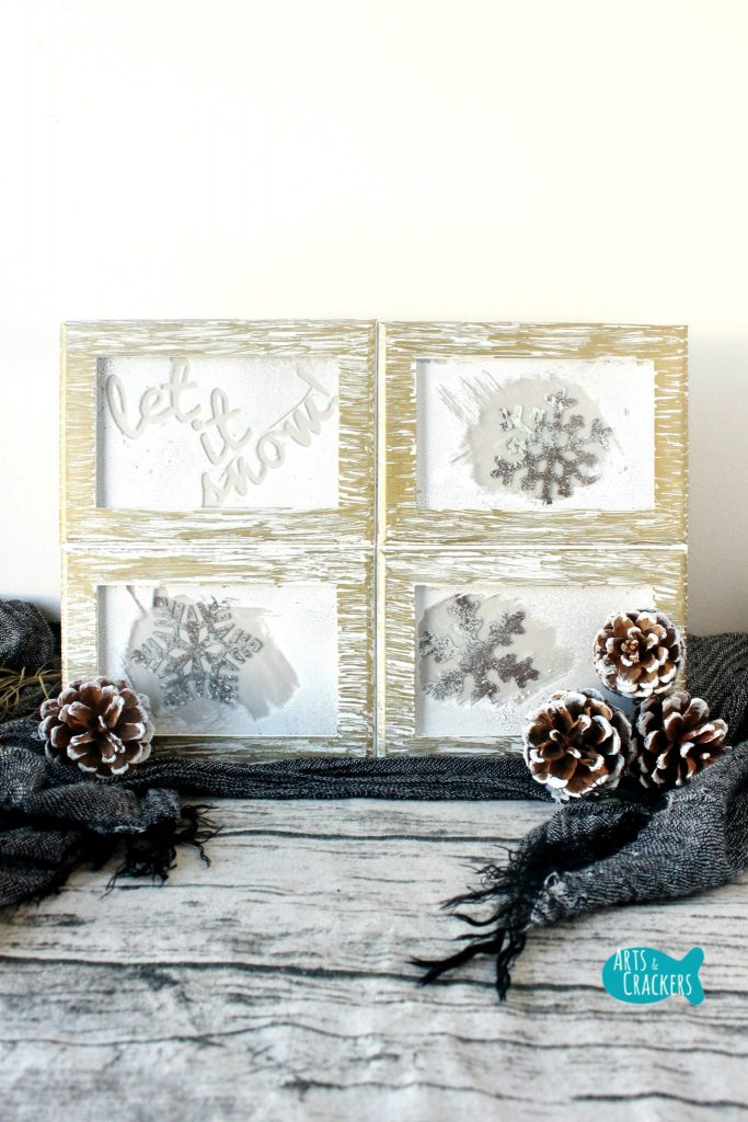 Frosted Frames Winter Home Decor Long