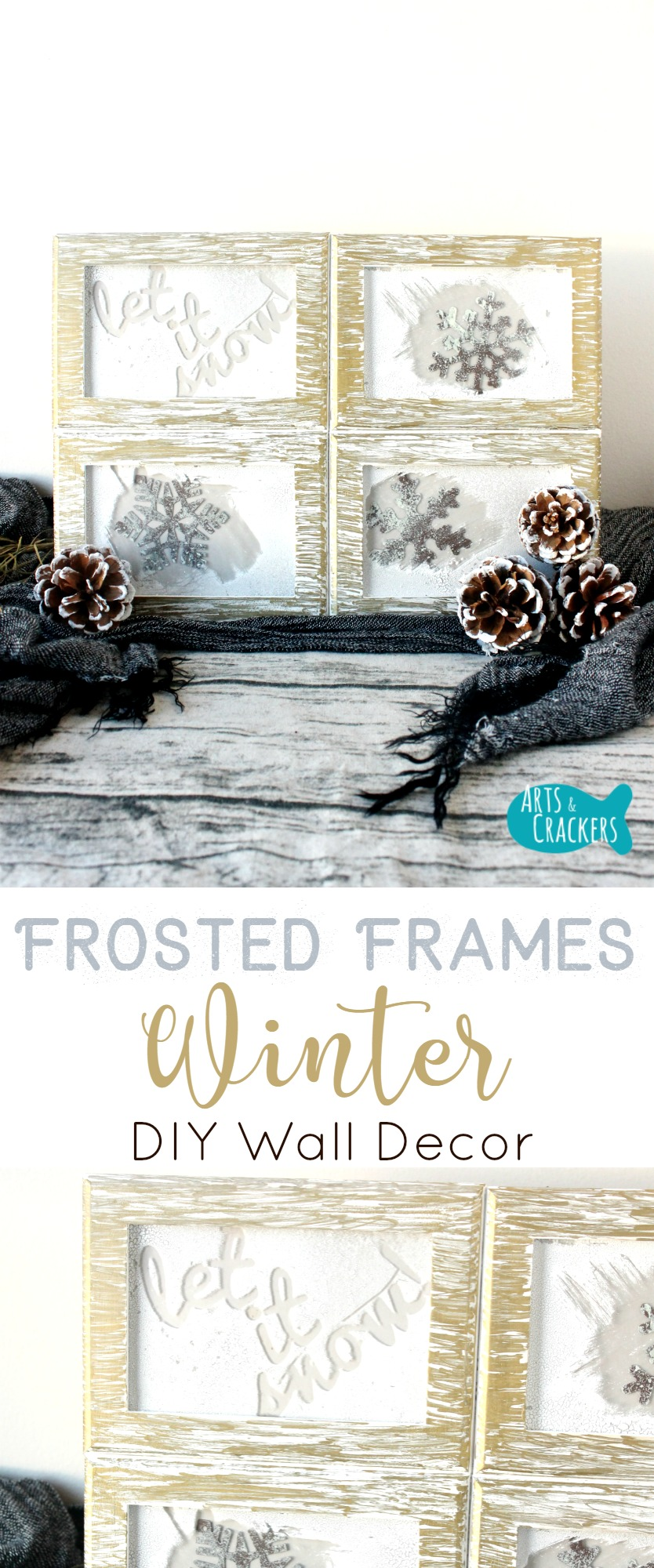 This Frosted Frames Winter Home Decor Is Just What You Need To Bring Some  Winter Cheer ...