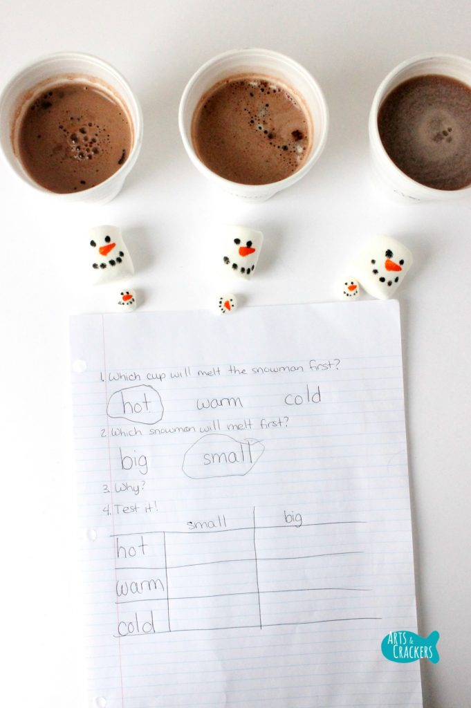 Melting Snowmen Hot Cocoa Science Long
