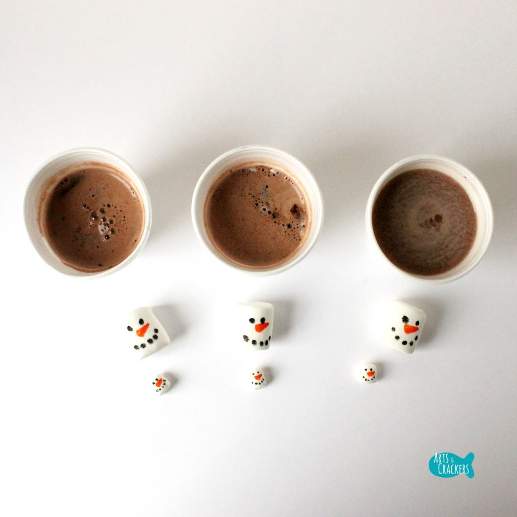 Melting Snowmen Hot Cocoa Science Square