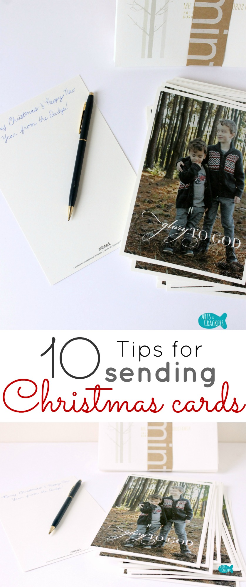 ten tips for sending christmas cards with ease and creativity