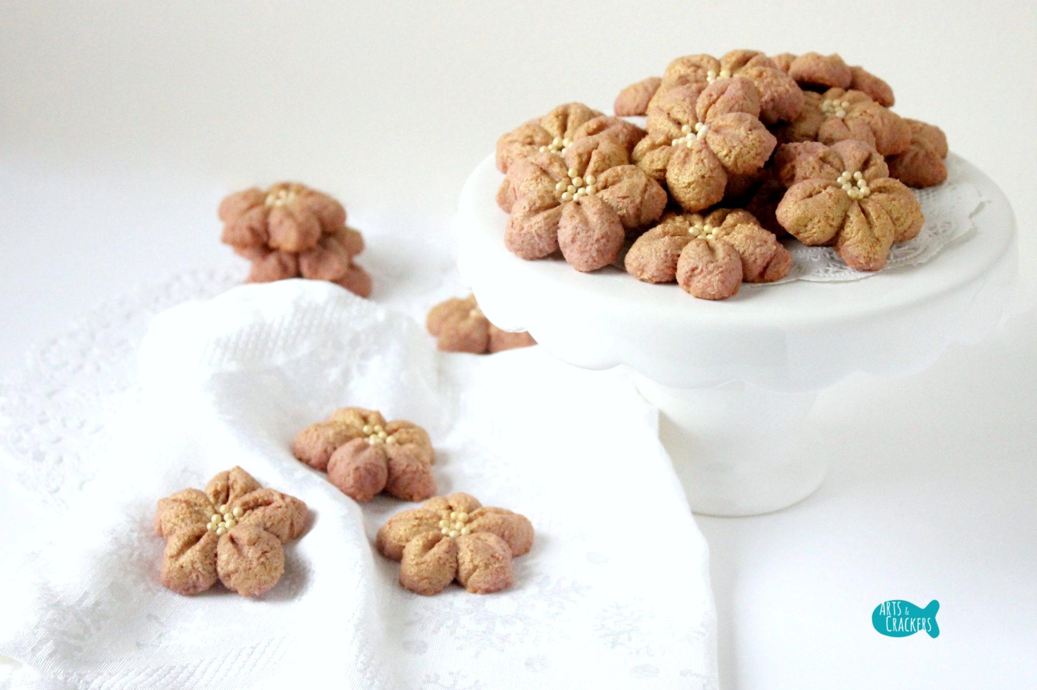 Poinsettia Spritz Cookie Recipe Easy Christmas Cookies Cover