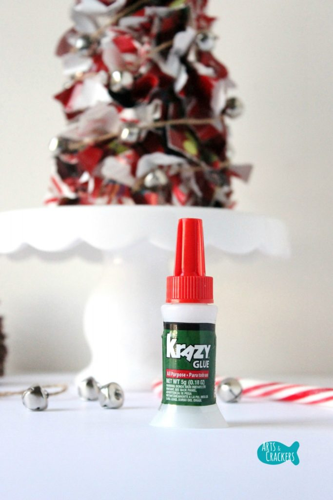 Upcycled Christmas Wrapping Paper Tree Krazy Glue