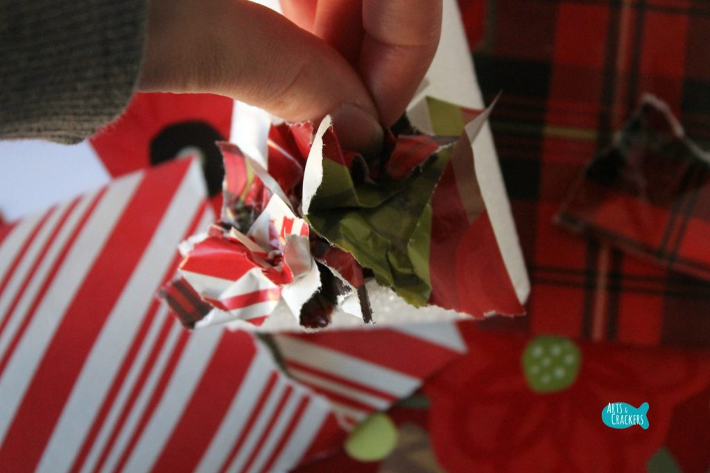 Upcycled Christmas Wrapping Paper Tree 3