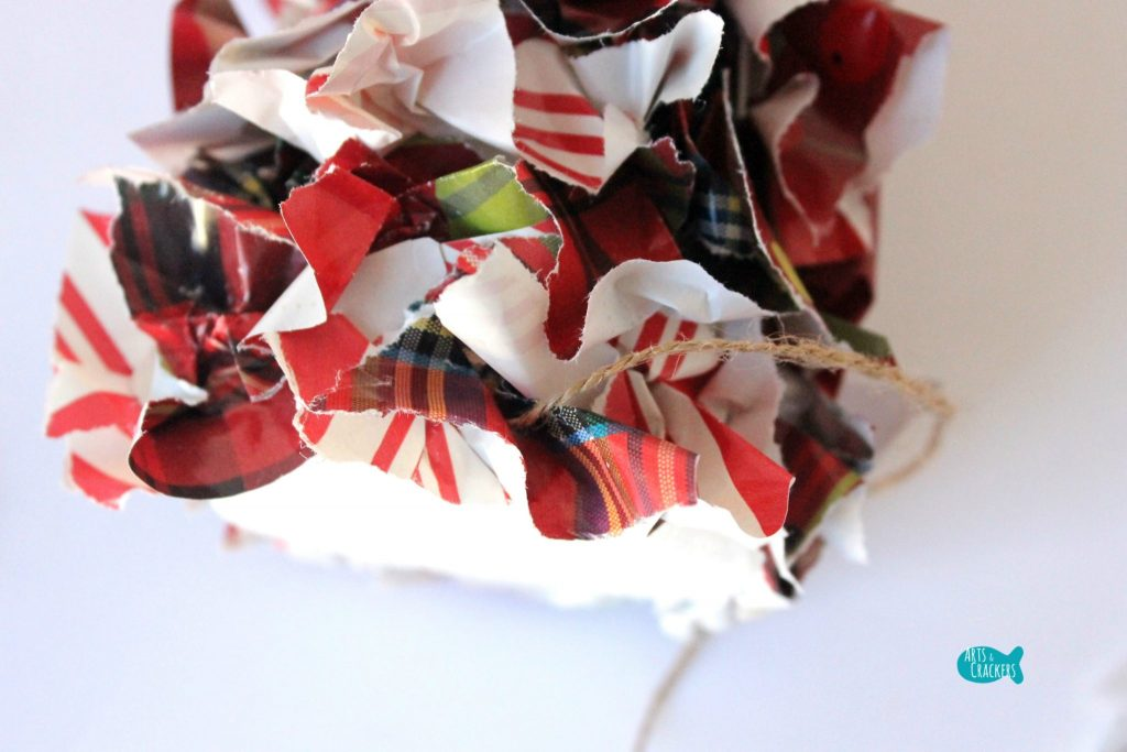 Upcycled Christmas Wrapping Paper Tree 5