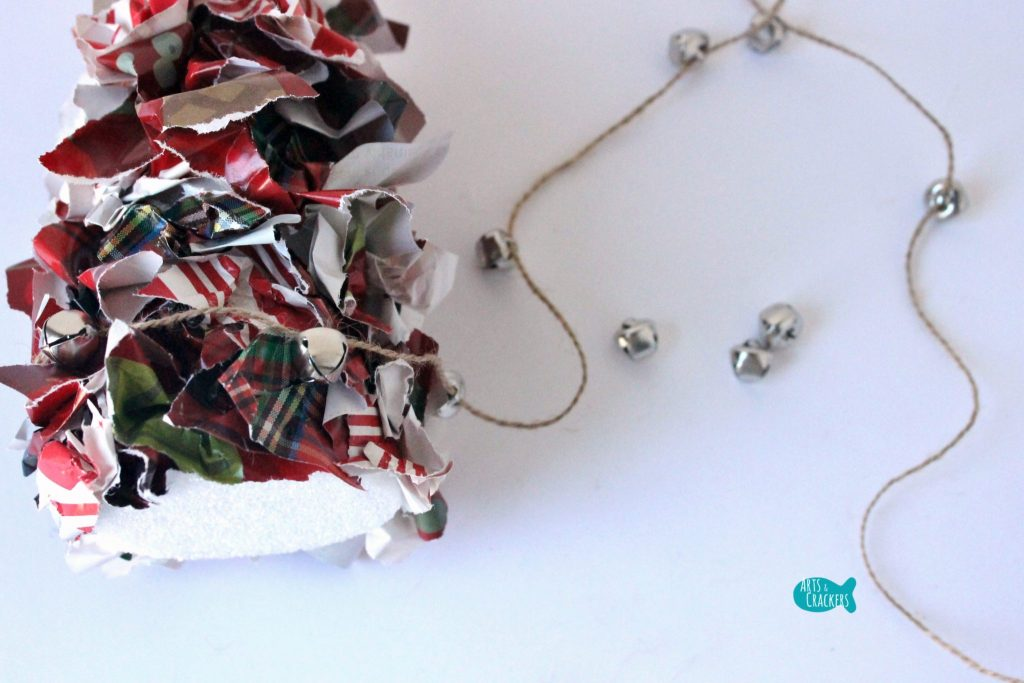 Upcycled Christmas Wrapping Paper Tree 6