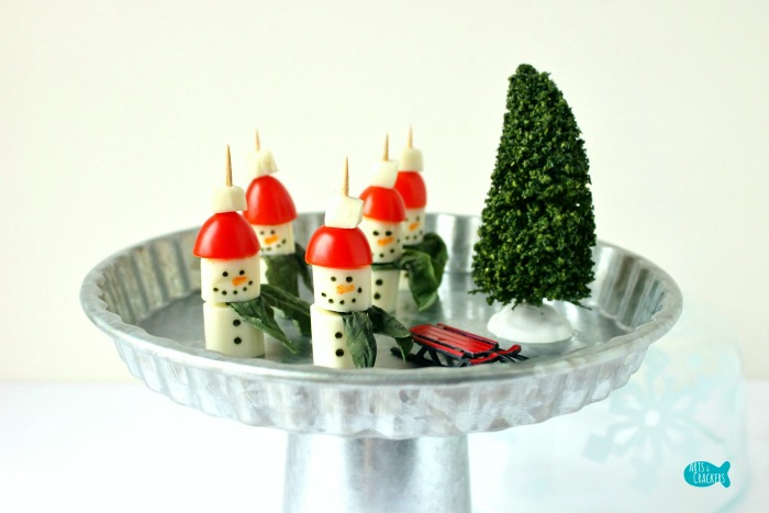 Caprese Salad Snowmen Appetizer Cover