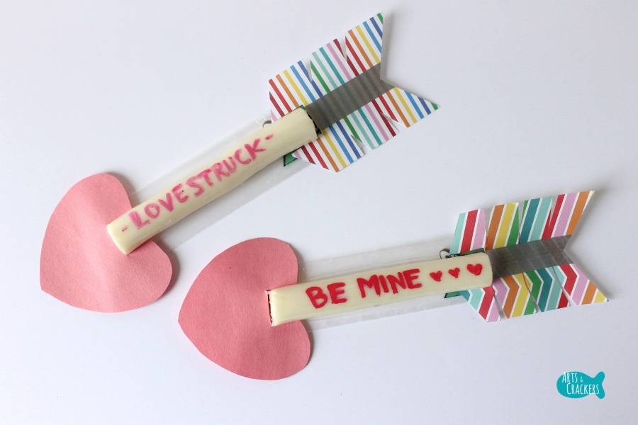 Cupid's Arrow String Cheese Craft 11