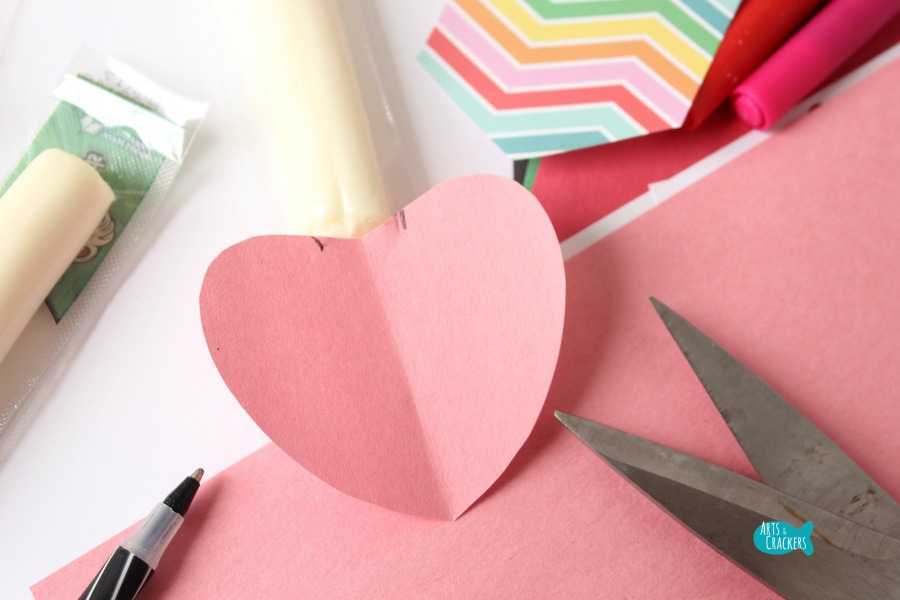 Cupid's Arrow String Cheese Craft 3