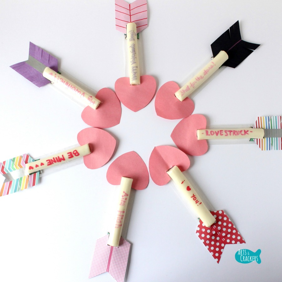 Cupid's Arrow String Cheese Craft 6
