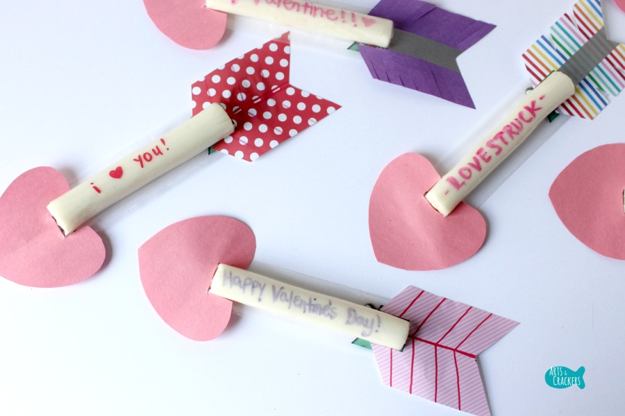 Cupid's Arrow String Cheese Craft Horizontal