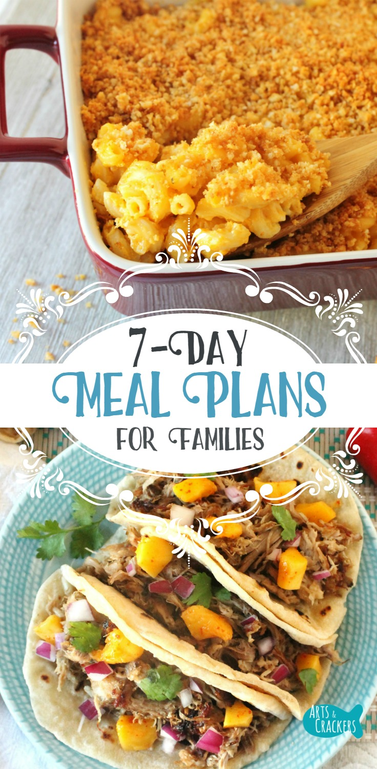 7 Day Meal Plans for Families | Meal Planning | Homemaking | Family Resources | Cooking | Dinner | Meal Ideas