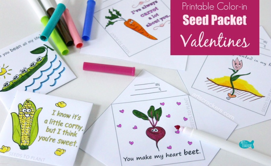 Coloring Page Seed Packet Valentines Non Candy