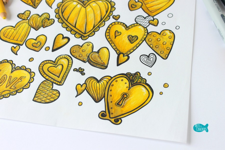 With All Thy Heart Adult Coloring Page Golden Close