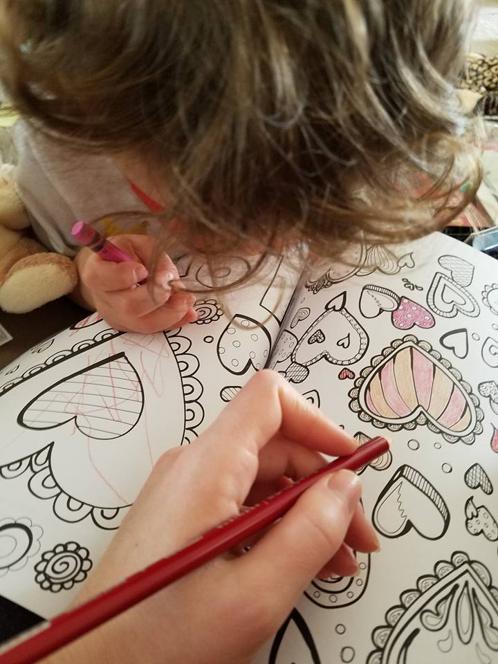 With All Thy Heart Adult Coloring Page Let's Color Together with S