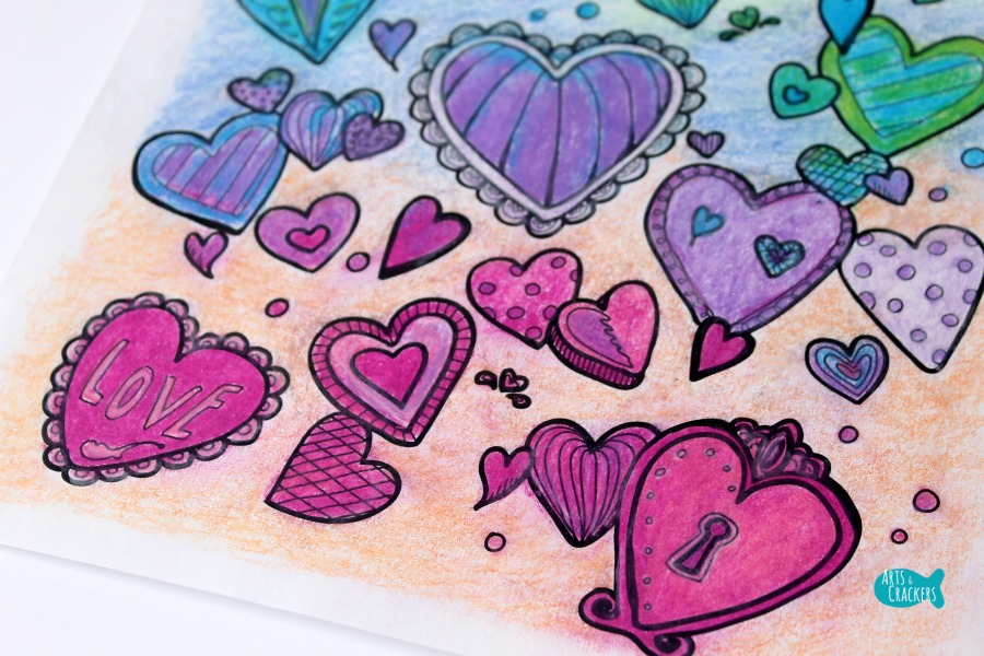With All Thy Heart Adult Coloring Page Vibrant Close