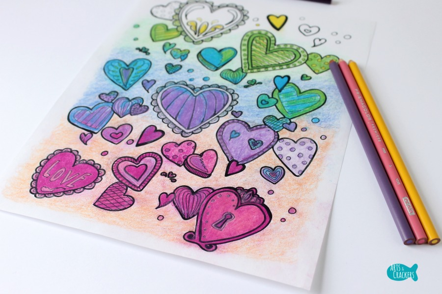 With All Thy Heart Adult Coloring Page Vibrant Horizontal