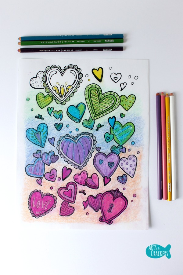 With All Thy Heart Adult Coloring Page Vibrant Long