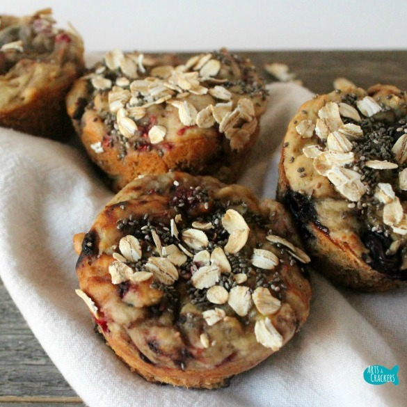 Gluten Free Mixed Berry Breakfast Muffins Recipe 2 Square