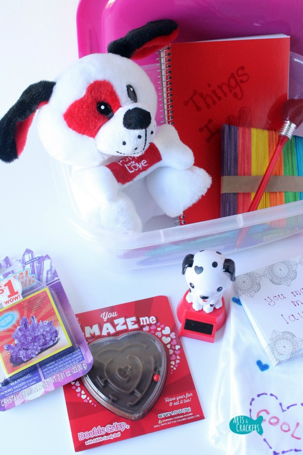 Heart Box Valentine's Day Gift for Kids Goodies Long