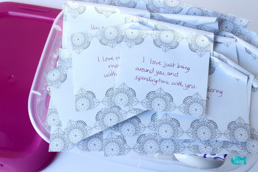Heart Box Valentine's Day Gift for Kids Notes
