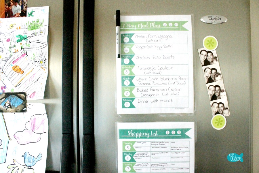 Meal Planning Printable Fridge