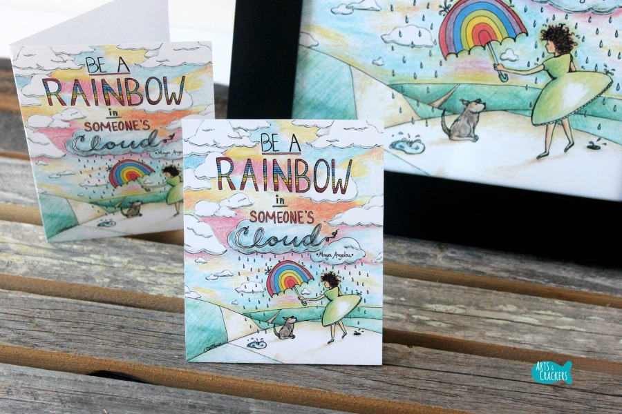 Rainbow in Someone's Cloud Printable Package Close