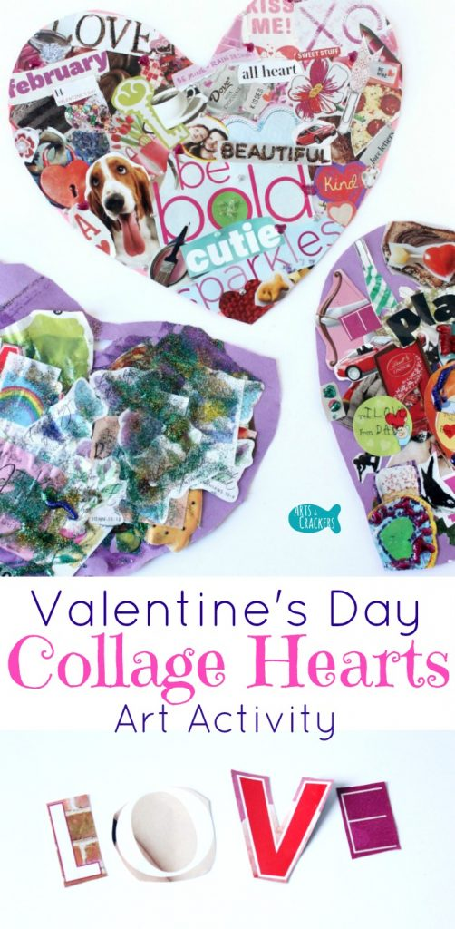 Valentine's Day Collage Hearts are a fun art activity for all ages | Last Minute Valentines | Valentine's Day | Collage | Collage Art | Art for Kids | Art Activity | Valentine's Day Art | Valentine's Day for Teens | Heart Collage | Love | Art Class | Valentine's Day Art Projects | Valentine's Day Craft | Paper Craft | Hearts | Valentine's Day for Kids | Magazine Clippings | Art Projects for Kids