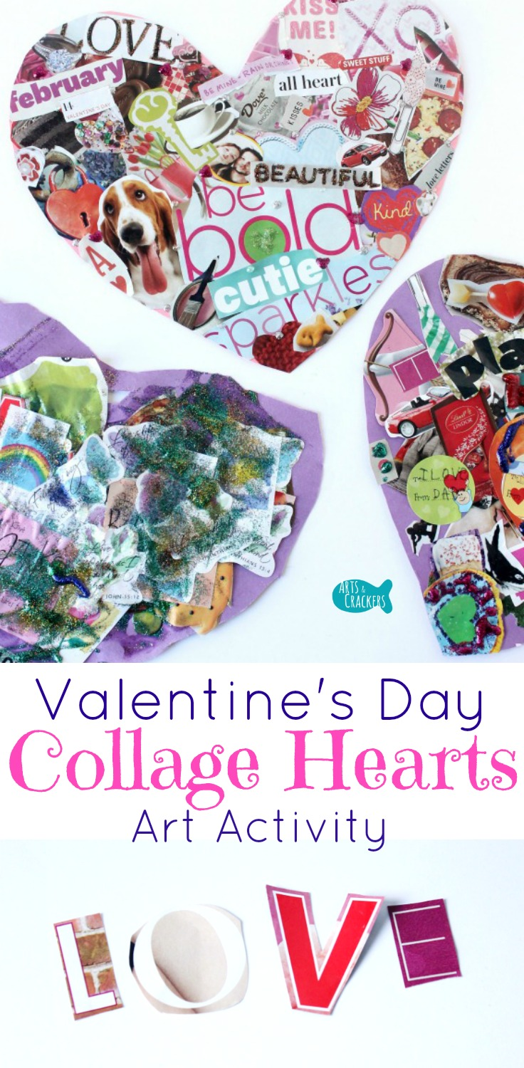 Easy Valentine S Day Collage Hearts Art Activity Arts And Crackers