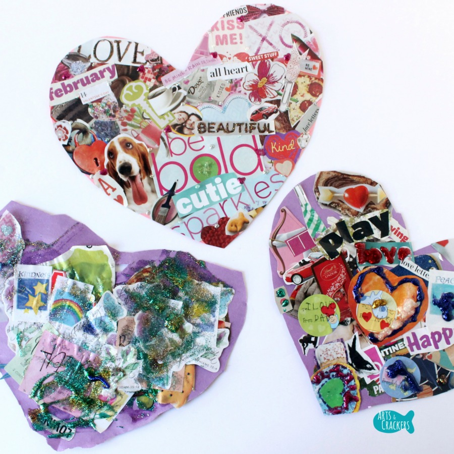 Valentine's Day Collage Heart Square