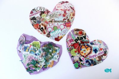Valentine's Day Collage Heart Three Hearts