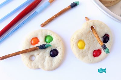 Artist Palette Cookies Close