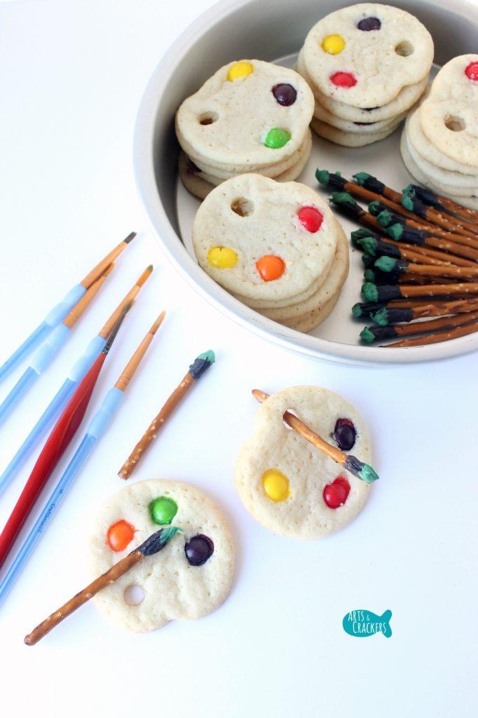 Artist Palette Cookies Long