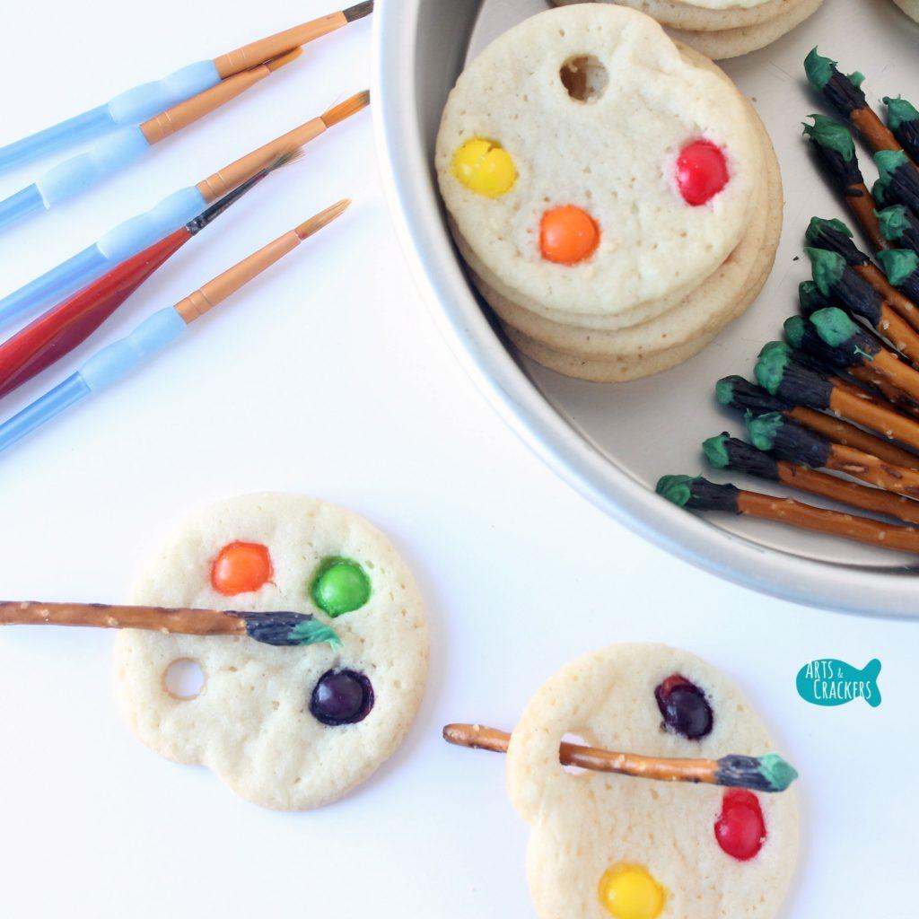 Artist Palette Cookies Sq