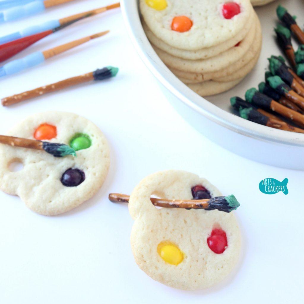 Artist Palette Cookies Square