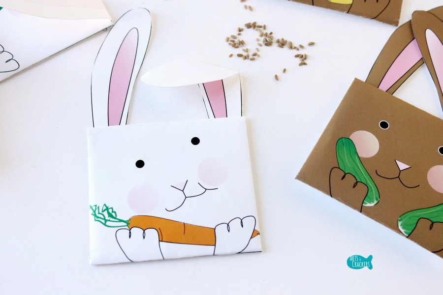 Bunny Seed Packet Envelopes for Spring Carrot