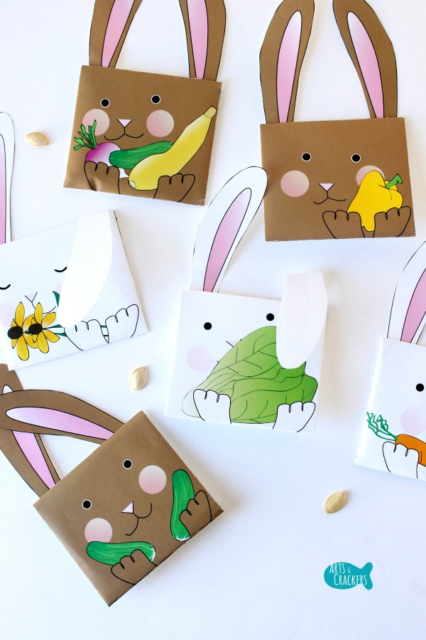 Bunny Seed Packet Envelopes for Spring Long