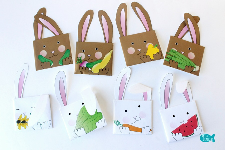 Bunny Seed Packet Envelopes for Spring Options