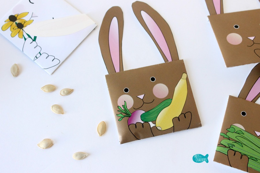 Bunny Seed Packet Envelopes for Spring Veggies
