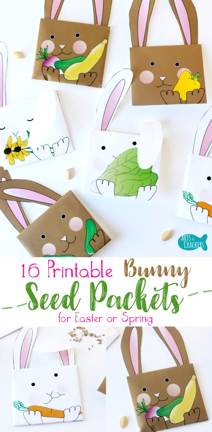photograph about Printable Seed Packets titled Printable Bunny Seed Packet Envelopes for Easter or Spring