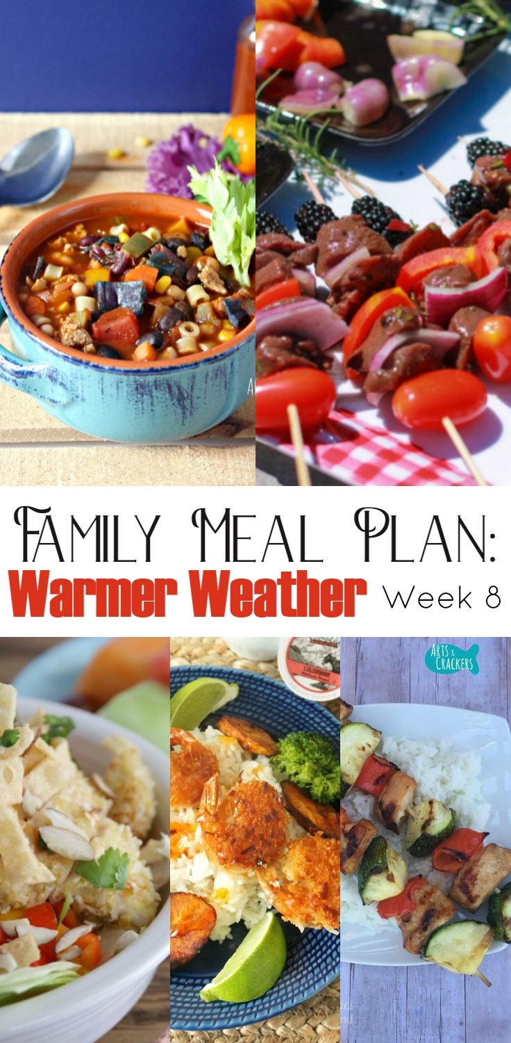 meal planning ready for warm weather week 8