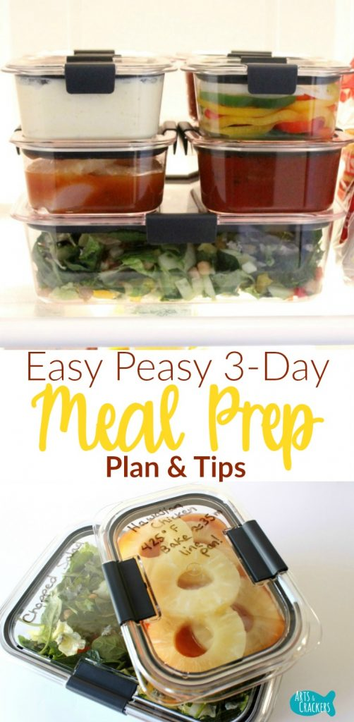Easy Peasy 3-Day Meal Prep Plan and Tips for Dinner | Meal Prep | Meal Plan | Food Organization | Family Dinner | Entree Recipes | Meal Prep Recipes | Meal Prep Hacks | Meal Preparation | Kitchen Hacks | Homemaking | Food Storage | Quick Dinners | Dinner Ideas | Kid-Friendly Recipes | Rubbermaid Brilliance Containers | Life Hacks | Weeknight Dinner Plan
