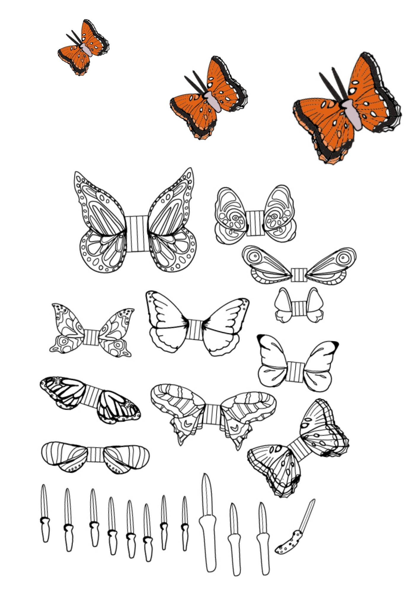Printable Butterflies Coloring Pages You Can Cut Out