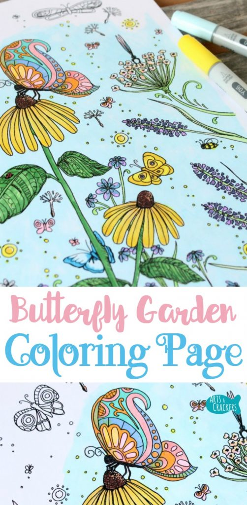 Bring the magic of a butterfly garden to life with this butterfly coloring page for adults | Coloring Page for Adults | Adult Coloring Page | Coloring | Printables | Butterflies | Butterfly Garden | Butterfly Coloring Page | Coloring Therapy | Stress Relief | Mindfulness | Illustrations | Flowers