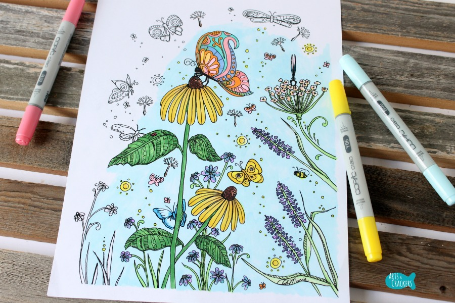 Butterfly Garden Butterfly Coloring Page for Adults Cover