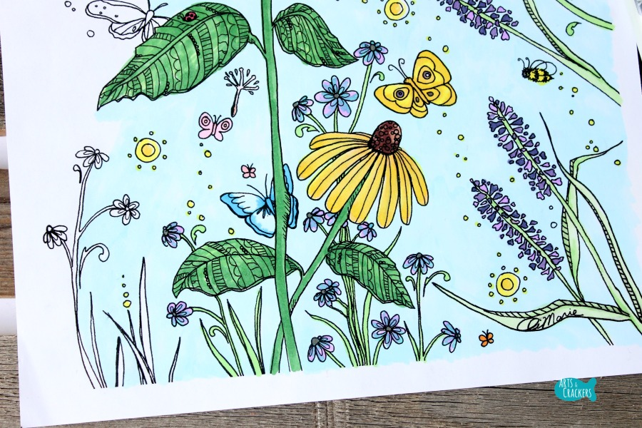 Butterfly Garden Butterfly Coloring Page for Adults Flowers