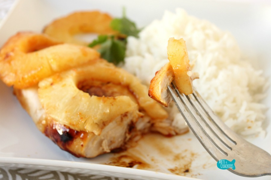 Easy Hawaiian Chicken Quick Dinner Fork