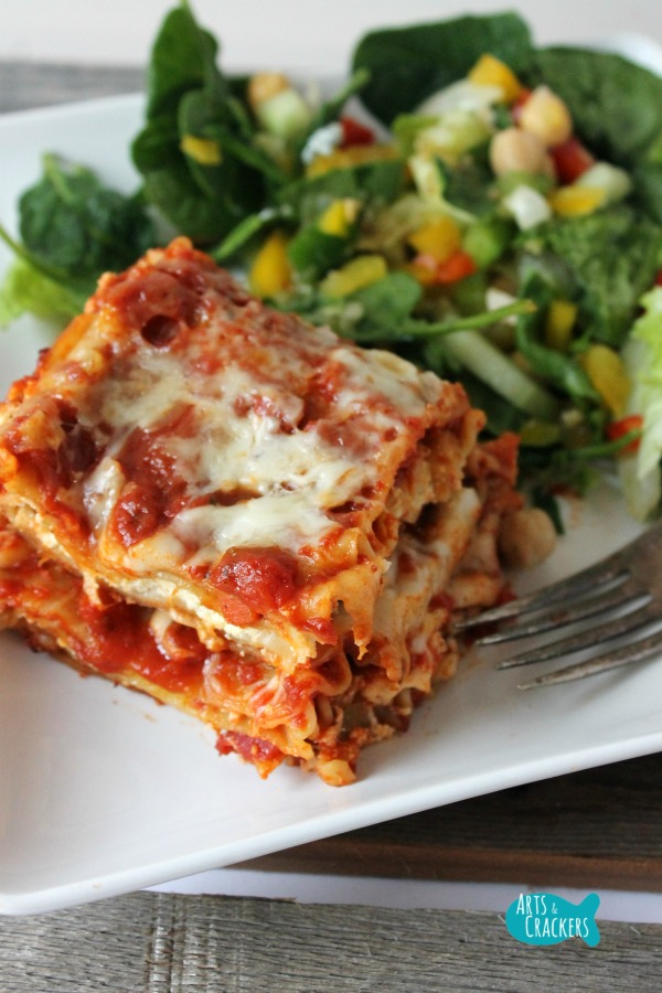 Easy Meatless Lasagna Quick Dinner Long