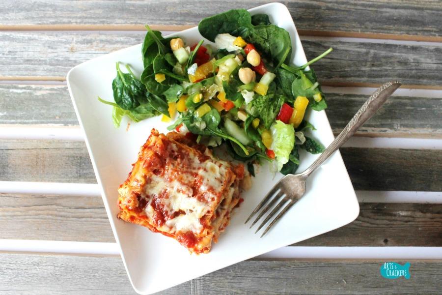 Easy Meatless Lasagna Quick Dinner Recipe