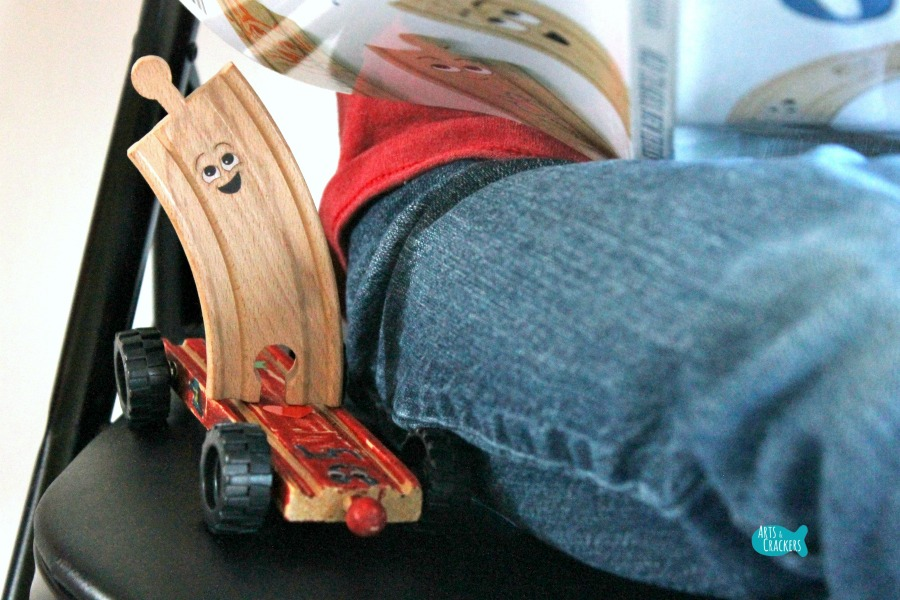 Wooden Train Tracks with Wheels Craft Buddy